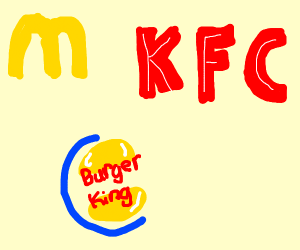 McDonald's KFC and Burger king
