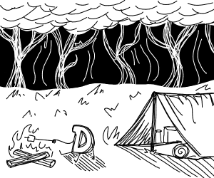 Drawception is camping
