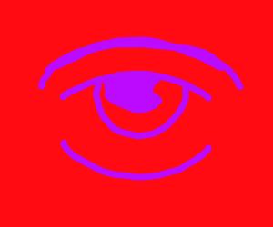 Purple eye always watching