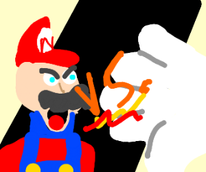 Mario VS Giant White Hand