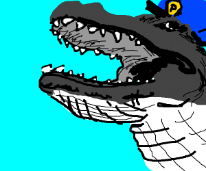 Policeman alligator