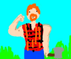 Buff ginger lumberjack