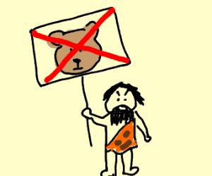 Caveman is against Furrys