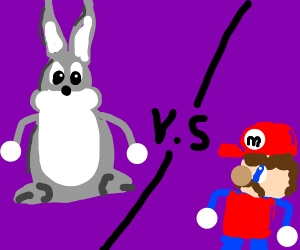 Big Chungus vs Mario