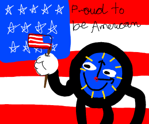 DHMIS character is a proud American