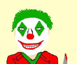 The joker smiling