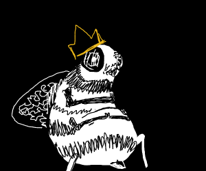 bee with a crown