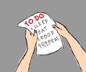 To do list for lazy people