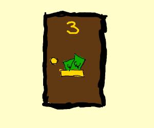door number three has the money in pounds.