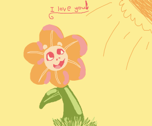 Happy flower loves you