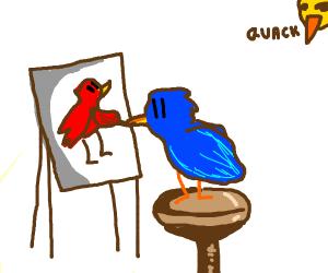 bird paints bird