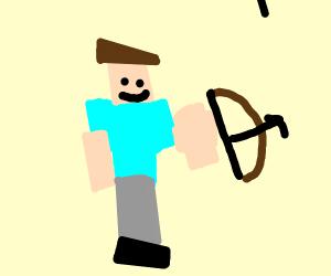 Minecraft Steve with a bow