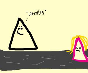 triangles cat calling