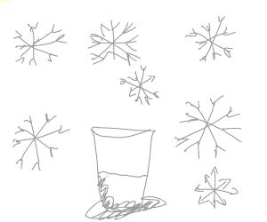 A jug of milk in a snow blizard