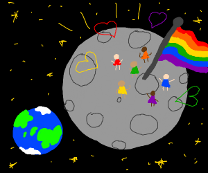 GAY'S ON THE MOON YASSS QWEEN