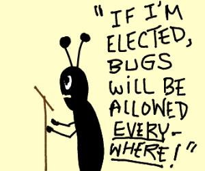 Black Bug Giving Speech