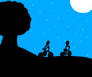 Bikers in the night