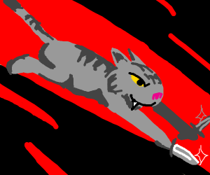Knife cat