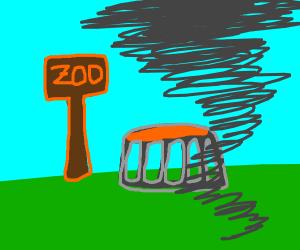 Tornado at a zoo
