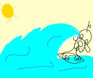 Surfing Dog