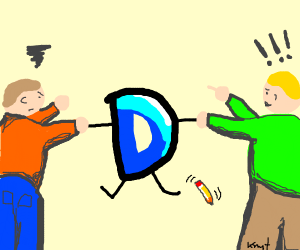 boys fighting for the drawception D