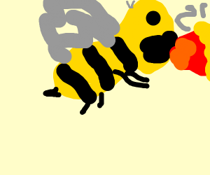 ugly wasp with fire sneeze