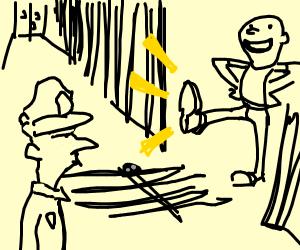 person breaking into a prison