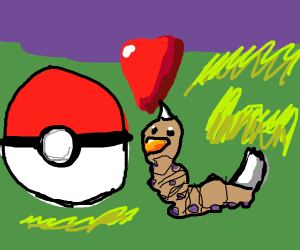 Weedle loves Pokeballs