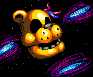 fnaf golden freddy floating head lost his hat