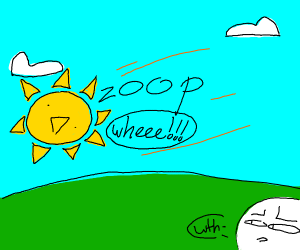 the sun does a zoop