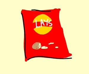 A bag of lays air
