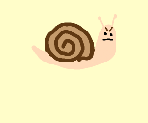 Angry snail