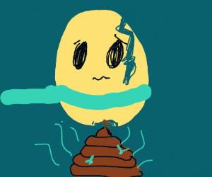 Egg pooping