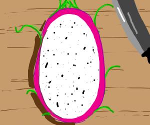 Dragonfruit with mustache - poetic & symbolic