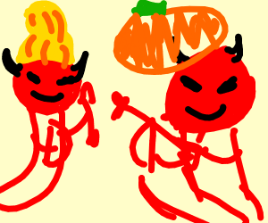 Gourd Demons firing arrows at eachother