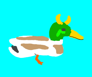 Duck with horns