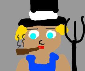 Farmer wearing a Top Hat