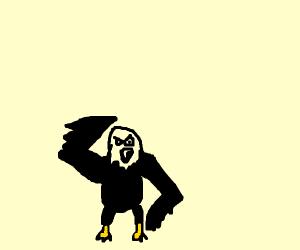 The bald eagle saluting