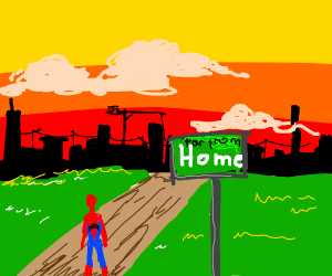 Spiderman is far from home