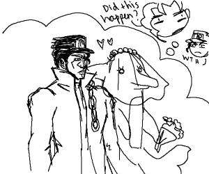 Jotaro? Did you marry a dolphin?