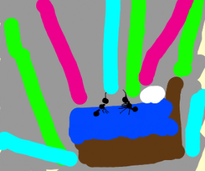 ant rave on bed