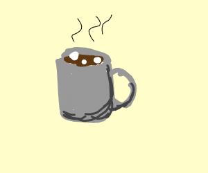 mug of hot chocolate and marshmallows