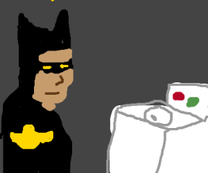 Batman doing laundry