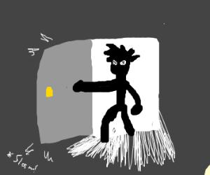 anime dude walks in the door