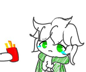 komaeda cries over fries