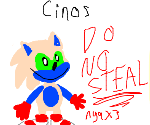 Don't steal my sonic oc nya X3