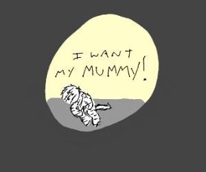 Mummy in fetal position