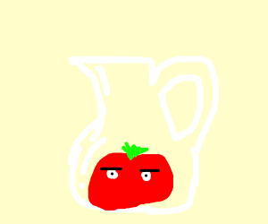 tomato with eyes is a mug