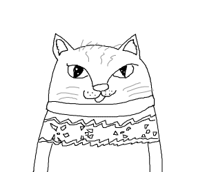 anthro cat wearing a sweater