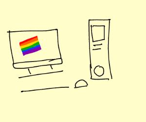 Rainbow Pride Computer